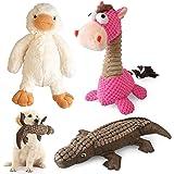 KONKY Juguetes para Perros - 3 Piezas Squeaky Toy Juguetes Duraderos para Cachorros Perro Pequeño Mediano, Chirriante Mastica