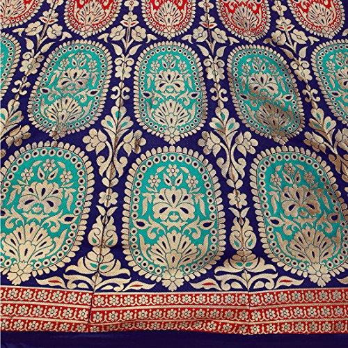 Styles closet Semi Stitched Silk Lehenga Choli for woman(7101_Blue)