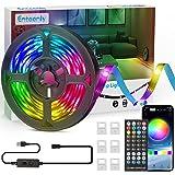 Tira Led 5m, Enteenly Dreamcolor Tira de Luz Led USB con Control Remoto y Aplicación, Luz LED de Cambio de Color Bluetooth Si