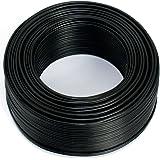 Câble d'enceinte 2 x 0,75 mm² – 50 m – Noir – CCA – Câble audio – Câble d'enceinte