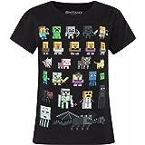 Minecraft Camiseta de manga corta oficial modelo Sprites para niñas