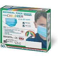 50 Stück Medizinischer Mundschutz Kleine Größe 100% Made in Italy EN14683 Type II BFE ≥ 99% OP Masken Mund Nasen Schutz