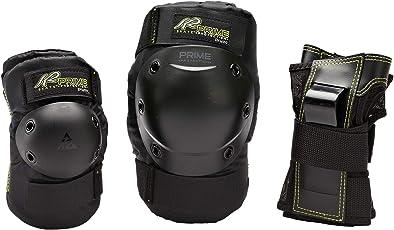 K2 Damen Inline Skates Schoner Prime W Pad Set, Knie-/Ellenbogen-Handgelenkschoner - Prodektoren Skateboard Schutzausrüstung, Schwarz, 3041601.1.1