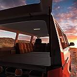 MSS® matras voor T4 T5 T6 VW Bus Multivan vouwmatras antraciet naar keuze met lounge kussen en tas 185 x 147 x 8 cm