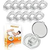 Clip Nasal Magnétique Anti Ronflement (12 Pièces) - Anti-Ronflement en Silicone - Pince pour Réduire le Bruit en Dormant - Di