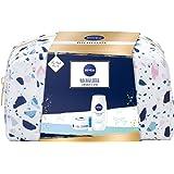 NIVEA Set regalo con beauty case per la cura della doccia, crema idratante e labello, piccolo ringraziamento per momenti di c