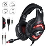 Gaming Headset, ONIKUMA PS4 Gaming Headset 3.5mm Stereo Gaming Headphones with Noise Canceling Mic for Xbox one Computer...