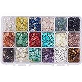 NBEADS 1 Caja de 18 Cuentas de Piedras Preciosas de 4-8 mm con Forma de Nugget Natural Irregular Sueltas con Piedra para Hace