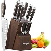 homgeek Couteaux de Cuisine, 8 Pièces Set de Couteaux, Ensemble de Couteaux Professionnel Bloc de Couteaux en Fabriqué…
