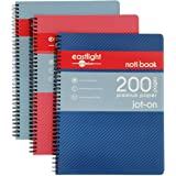 Eastlight A4 Jot-On Notebook Wirebound, Ruled & Perforated, 200 Pages, Assorted Colours, Pack of 3
