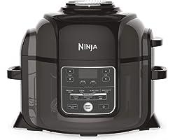 Ninja Foodi [OP300EU] Olla a presión y Freidora de aire, 6 litros, Negro y Gris