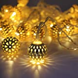 Miradh String Lights Moroccan Ball Multicolor 11ft 16LED Globe Fairy String Light Orb Lantern Christmas Lighting for…