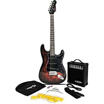 Jaxville Demon ST Style Electric Guitar Pack with Amp, Gig Bag, Strings, Strap, Lead and Plecs