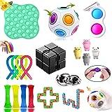 GNGDSK Fidget Toys Pack, Fidget Toys Sensory Toys Simple Fidget Toy for Soulager Le Stress et l'anxiété, pour Enfants, Couple