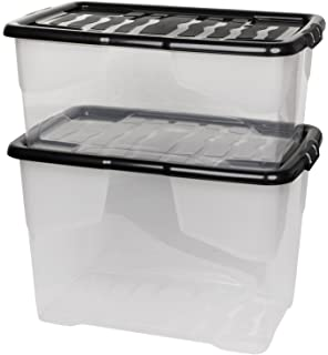 Xxl Aufbewahrungsboxcurve Mit Deckel Aus Transparentem Kunststoff
