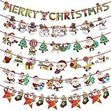 LumenTY - 6 guirnaldas de Navidad con diseño de muñeco de nieve, decoración navideña, guirnalda de Navidad para Navidad, Año