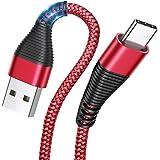 AINOPE Cable USB Tipo C [3 Pack 0.5M+1.2M+2M] Cargador Tipo C Carga Rápida y Sincronización Cable USB C para Samsung S10/S9/S