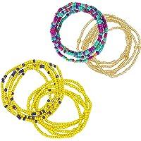 Yarbar 4 Pezzi Donne Ragazze Perline in Vita Waist Beads Africane Perline Gioielli per il corpo Catena del ventre…