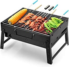 Xectes Barbecue Charcoal Grill Folding Portable Lightweight BBQ Tools for Outdoor Cooking Camping Hiking Picnics Tailgating Backpacking