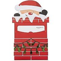 Amazon.de Geschenkgutschein in Geschenkschuber (Weihnachtsmann)