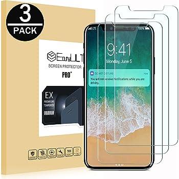 EasyULT Pellicola Protettiva per iPhone X/iPhone XS/iPhone 10 [3-Pezzi], Pellicola Protettiva in Vetro Temperato per iPhone X/iPhone XS/iPhone 10
