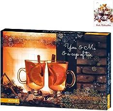 OLShop AG Tee für Zwei-Adventskalender gefüllt inkl. 25 Geschenkanhänger