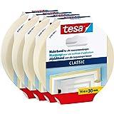 tesa Schildertape CLASSIC in verpakking van 4 - Afplakband voor het afplakken bij schilderwerk - oplosmiddelvrij, verwijderba