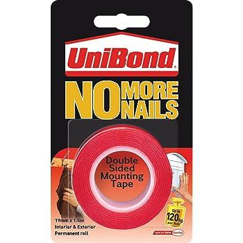 UniBond No More Nails Permanent Roll - 19 mm x 1.5 m