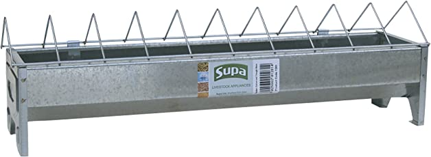 Supa galvanisierter Futterspender für Geflügel mit Gitter