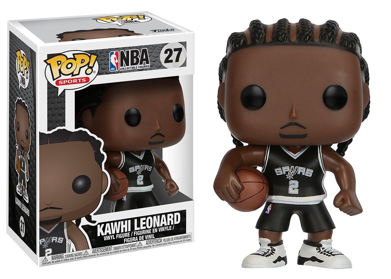 Funko Pop Kawhi Leonard San Antonio Spurs camiseta negra (NBA 27) Funko Pop NBA