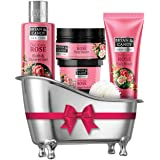 Bryan & Candy New York Delicate Rose Bath Tub Kit Gift For Women And Men Combo for Complete Home Spa Experience (Shower Gel,