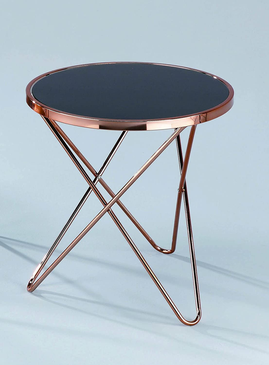 ASPECT Porto Round Coffee Table, Copper/Black, 85 Dia X 48 Cm:  Amazon.co.uk: Kitchen U0026 Home