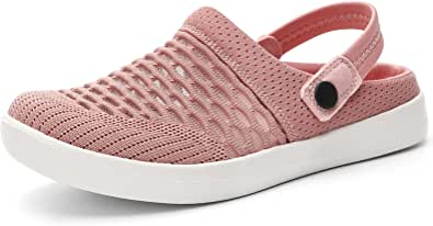 HKR Womens Garden Clogs Memory Foam Sandals