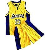 Daoseng Juego de 2 piezas de baloncesto para niños #23 de baloncesto y pantalones cortos