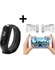 POPPEY M3 Smart Band Fitness Tracker Watch Heart Rate with Activity Tracker Waterproof Body Functions Like Steps Counter, Calorie Counter, Blood Pressure, Heart Rate Monitor LED Touchscreen