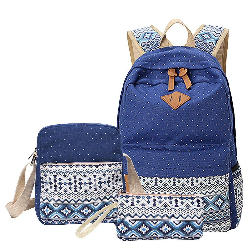MingTai Backpack Mochilas Escolares Mujer Mochila Escolar Lona Bolsa Casual Para Chicas Bolsa De Hombro Mensajero Billetera