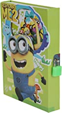Asera Minion diary with Lock Case for Kids Gifts options - Minion Lock Diary in Green Colour