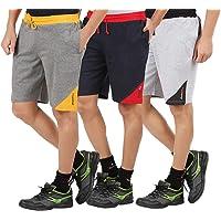 CHECKERSBAY Men's Cotton Shorts(3SEE) 3SHORTS