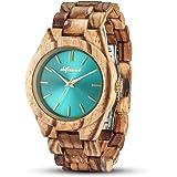 shifenmei - Reloj de madera para mujer, ligero, hecho a mano, personalizado, de madera, para mujer, analógico, de cuarzo, con