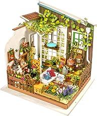 ROBOTIME Garden House Miniatur Gebäude - DIY Greenroom mit Möbeln und Zubehör - Geschenk für Mädchen