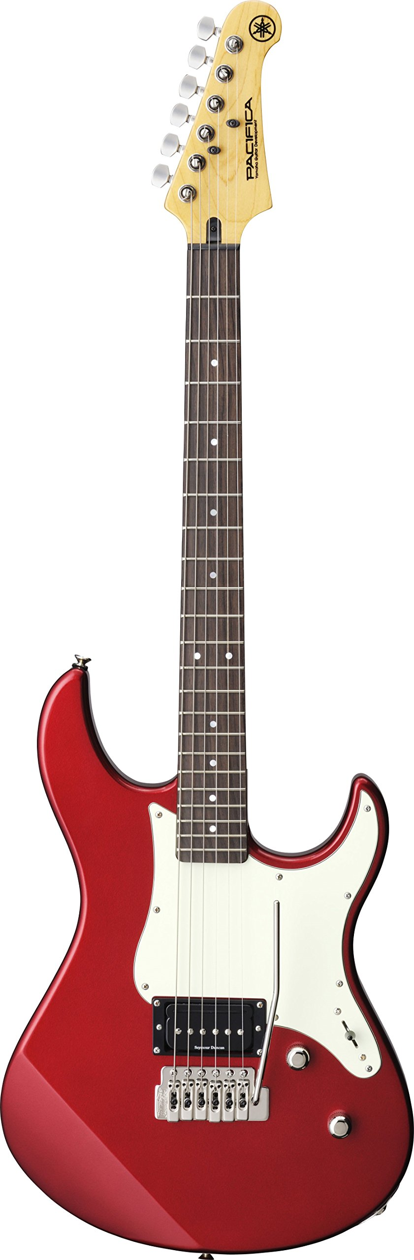 Yamaha PAC510V Electric guitar Solid 6strings Red, Rosewood, White – Guitars (6 strings, 1.05 cm, Φ5.2(Screw-in))