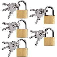 UCEC 5x Mini Vorhängeschlösser mit Schlüssel, Gepäck-Vorhängeschloss, Kleines Kofferschloss für Gepäck, Reisetaschen…