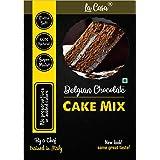 La Casa Belgian Chocolate Cake Mix | Egg-Less | Vegan | Super Moist | Extra Soft | 300 GMS |