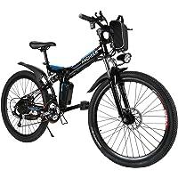 ANCHEER E-Bike Elektrofahrräder E Klapprad, 36V Akku, 26 '' faltbares Elektrofahrrad mit 250W Motor und 21 Gang…