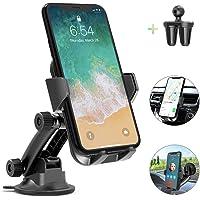 AIKELA Handyhalterung Auto, Handyhalter für Vent, Windschutzscheibe und Dashboard mit klebrigem Gel-Saugnapf, Anti-Shake Kompatibel iPhone Android Samsung Huawei