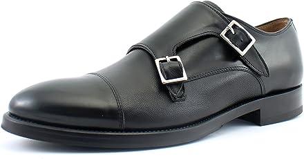 Giorgio Rea Herrenschuhe Schnürhalbschuhe Echtes Leder, Handgefertigt in Italien EU-Größe 40 41 42 43 44 45 Schwarz