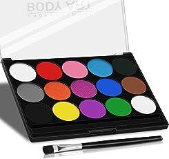 Xpaisson XBS-FP Kinder Schminkfarben Ultimatives Party Set Nichttoxisches 15 Farben