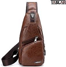 Taslar® Travel Crossbody Sling Bag Backpack, Daypack, Outdoor Sports Bicycling Hiking Multipurpose Shoulder Chest Bag Lightweight with Charging Port for Men Women Boys Girls