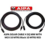 ASPA Solar Cable 4 SQ MM with MC4 10 MTRS Black 10 MTRS RED