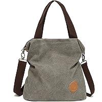 Myhozee Handtasche Damen Canvas Umhängetasche,Taschen Damen Strandtasche Schultertasche Crossover Bag für Mädchen Frauen…